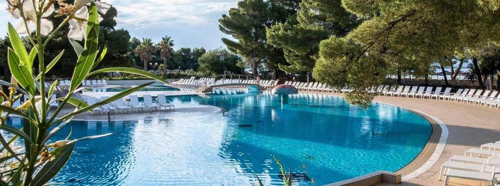 Outdoor pool at Hotel Ivan