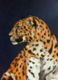 Amur leopard, canvas, DEAU Fine art - animal artist