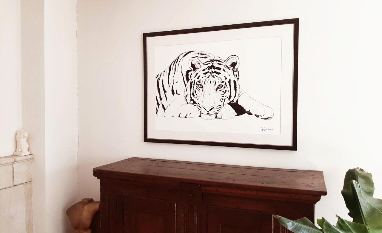 'Radja' Bengal Tiger - Interior Context