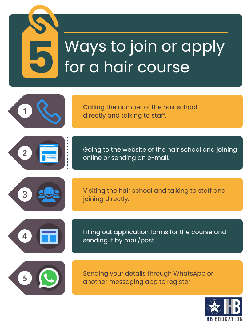 A quick guide on how to join a hair course in India, along with the IHB logo