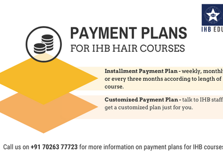 Are there payment plans for hair courses?