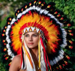 Agnes | Portrait | Indian Headdress