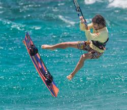 Kitboarding at Boca Grandi Aruba