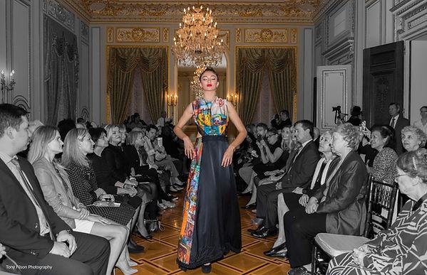 Model Emma Greenspan for Fashion Designer Olga Papkovitch Haute Couture