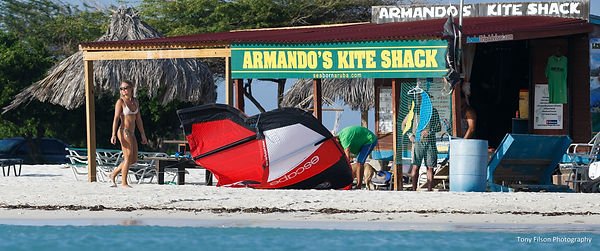 Picture of Armando's Kite Shack in Aruba with Nathalie Zach