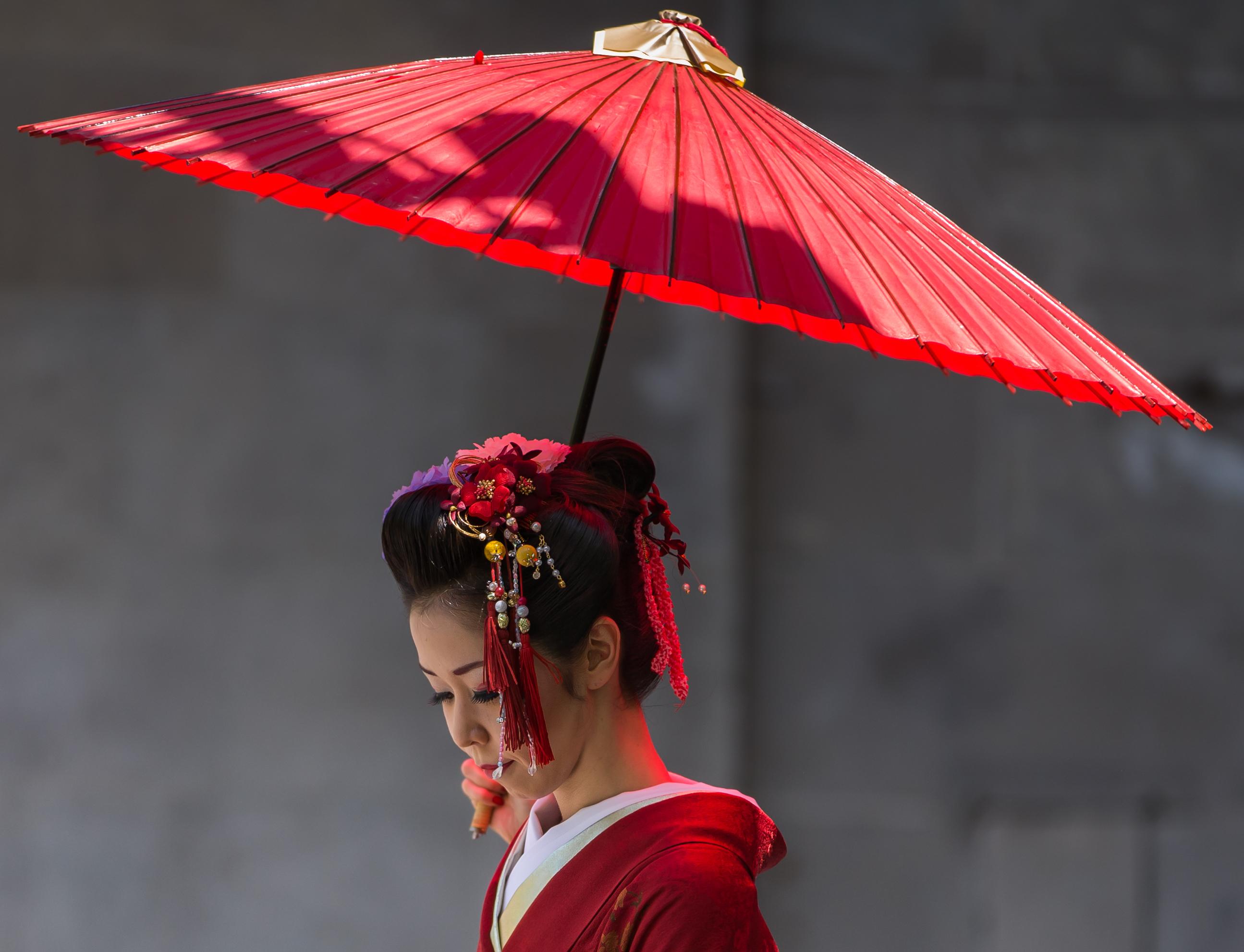 Japanese Female Portrait Umbrella