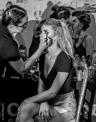 HMU Behind the scenes with Fashion Photographer Tony Filson at NYFW