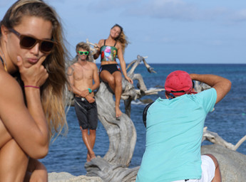 Behind the scenes with Nicole, Phillip and Nathalie