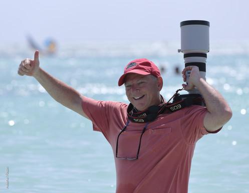 Photograph of Tony Filson behind the scenes