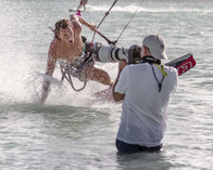 Behind the scenes Tony Filson shooting in the water