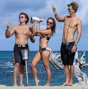 Niki Zack, Nathalie Zach, Phillip Kervel modeling for Olga Papkovitch