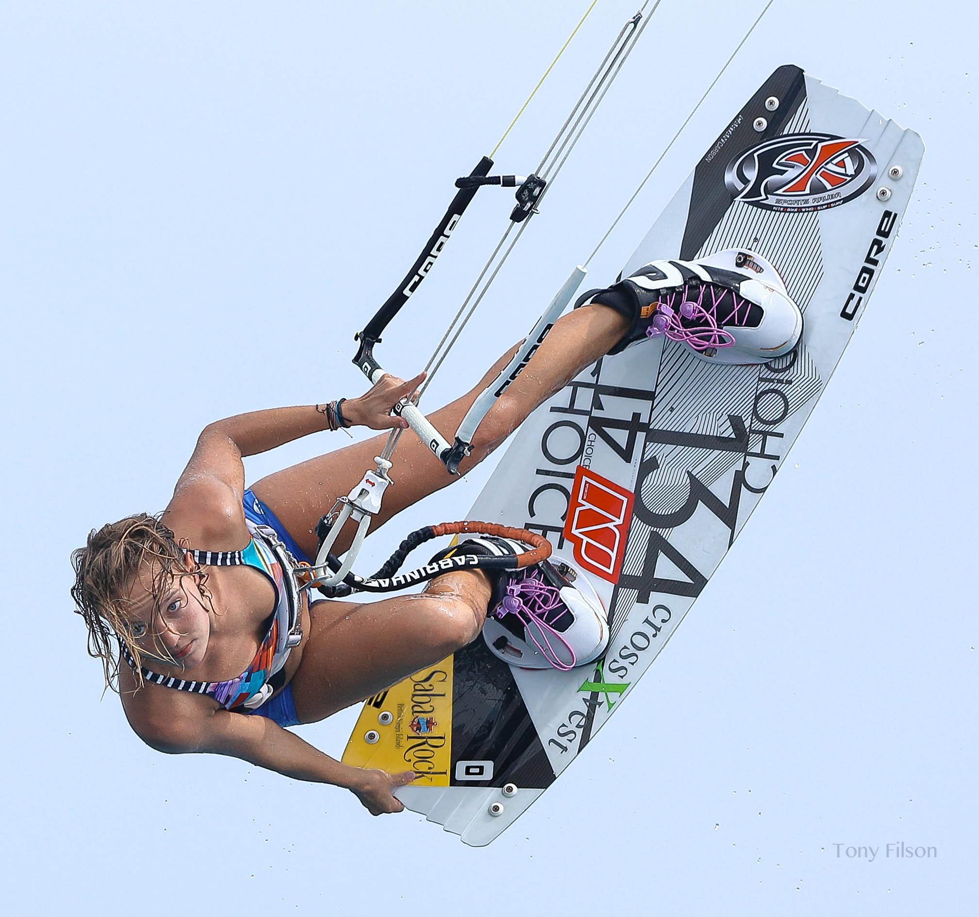 Annabel van Westerop Kitesurfing