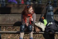 Female Skater in NYC Central Park