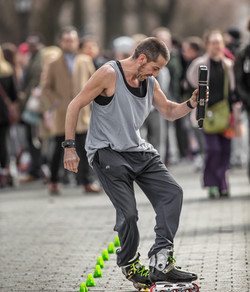 Male Roller Skater NYC Central Park
