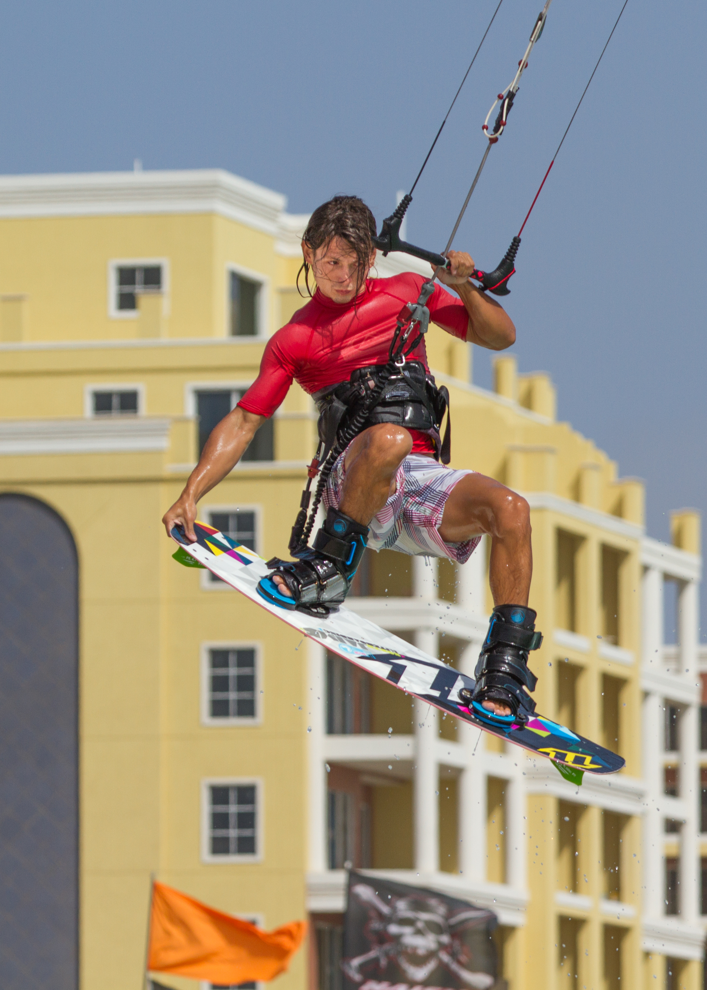 Very talented kitesurfer in Aruba