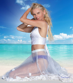 Model at Beach Aruba