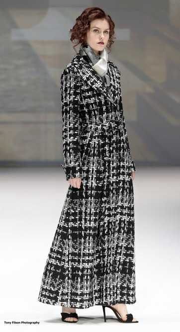 Malan Breton Long Black Grey White Coat