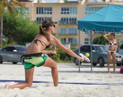 Female Beach Tennis Player Aruba BTA