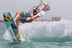 Jos Kitesurfing at The Huts in Aruba
