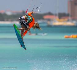 Petr Kitesurfing in Aruba