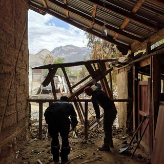 Demolición quincha existente