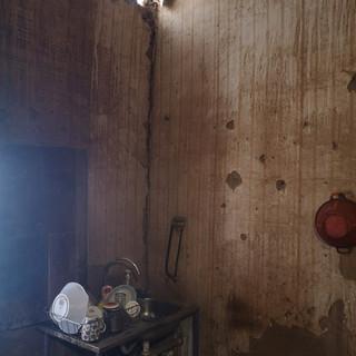 Interior de la vivienda antes de la reparación
