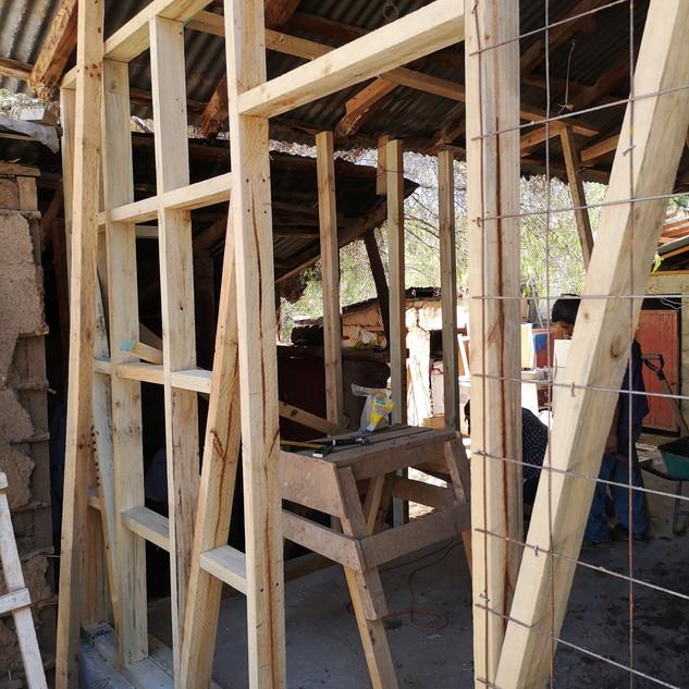 Nueva tabiquería de madera
