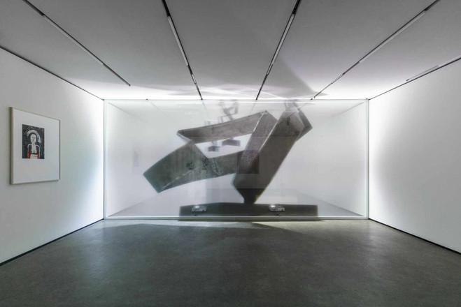 Christopher Kulendran Thomas' 'Being Human'Christopher Kulendran Thomas in collaboration with Annika Kuhlmann, Being Human, 2019. Digital projection on acrylic.