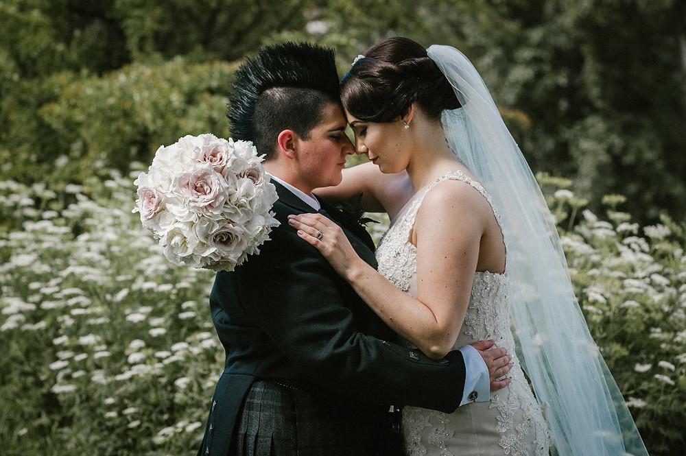 Same sex wedding, wedding florist Glasgow, Scotland