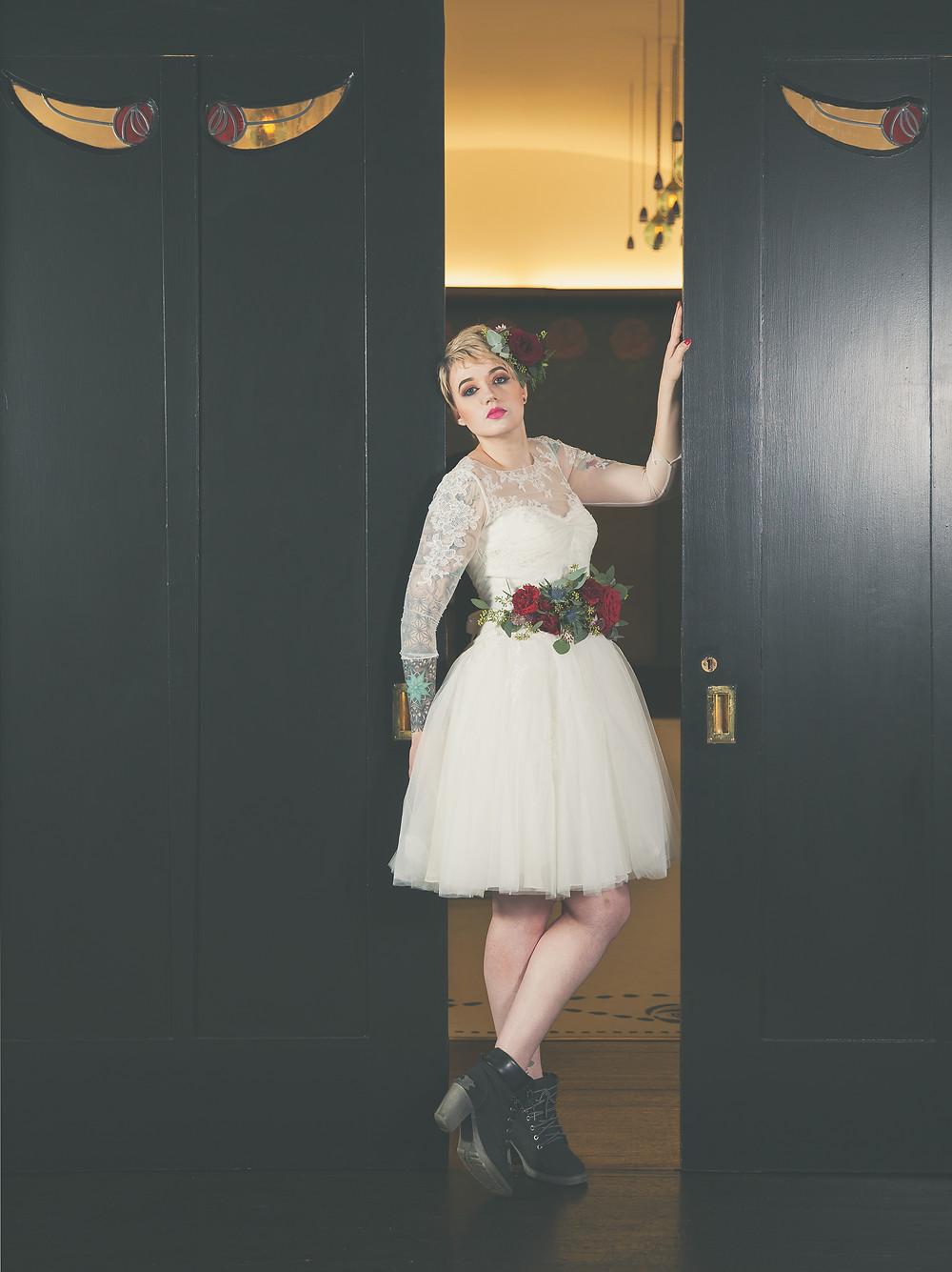Rock & Roll Bride, alternative Bride, alternative bridal flowers