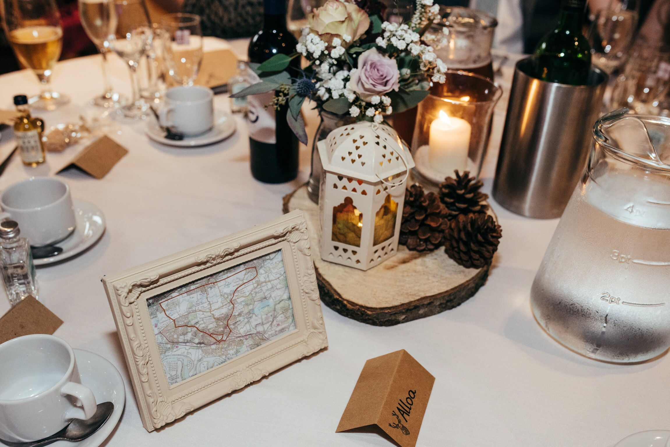 Autumnal Wedding Centrepiece