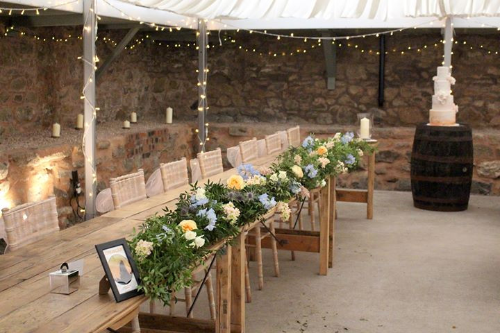 Cow Shed Crail Wedding Flowers