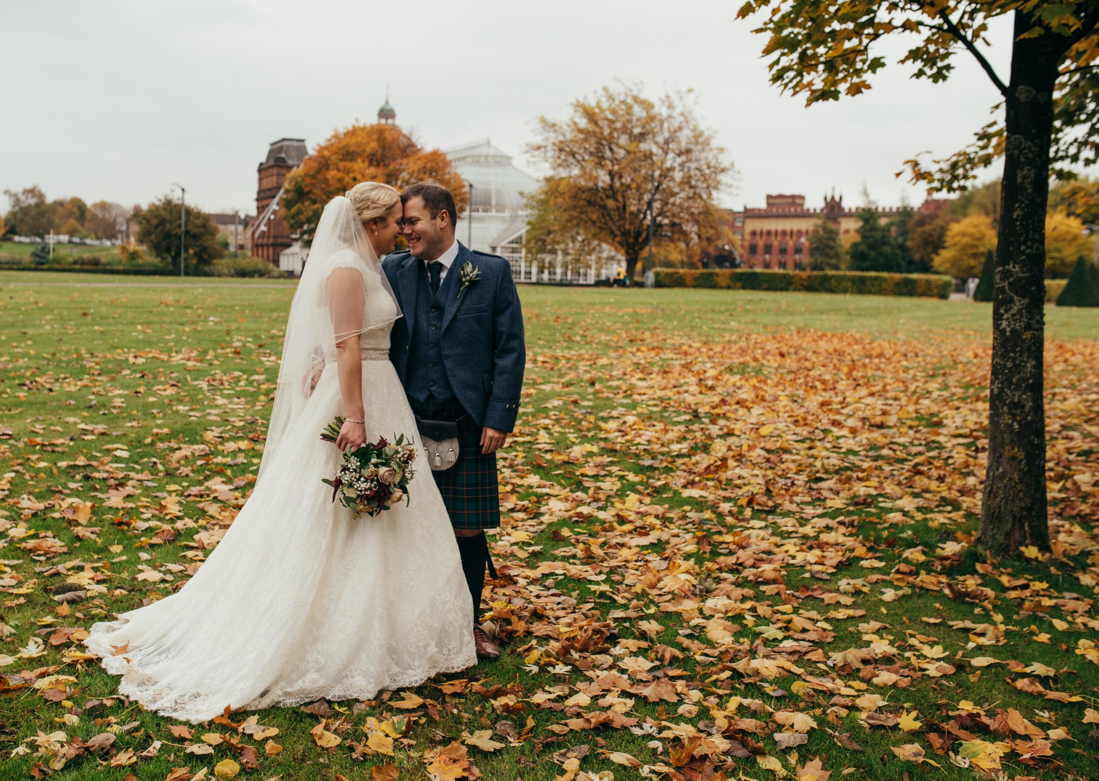 Autumnal Glasgow Wedding