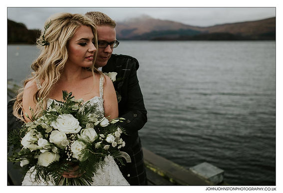Scottish wedding at Cameron House Hotel, wedding flowers by The Floral Design Boutique