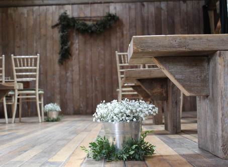 Rustic Wedding Flowers at The Byre at Inchyra