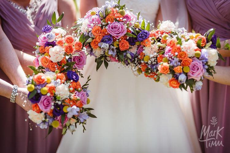 Colourful Wedding Flowers Scotland