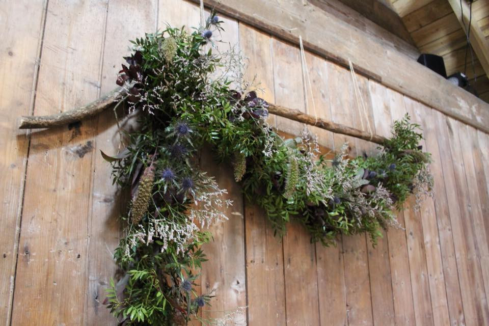 Hanging Foliage Design The Byre at Inchyra