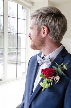 Gents Buttonhole, Glasgow Wedding