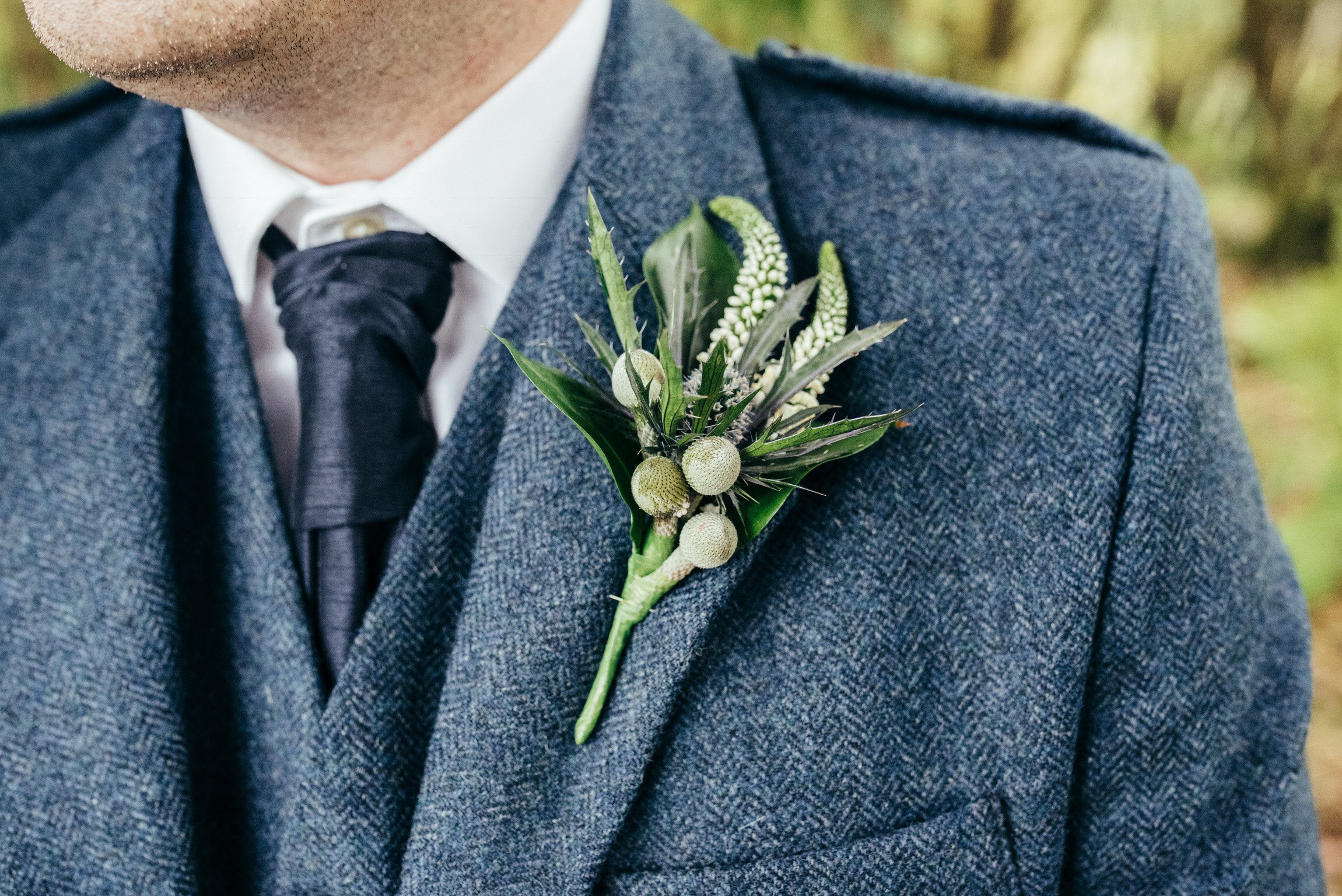Gents Buttonhole Autumn Wedding