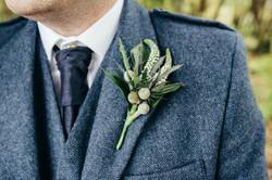 Gents Buttonhole Autumn Wedding