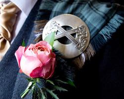 Gents Rose Buttonhiole