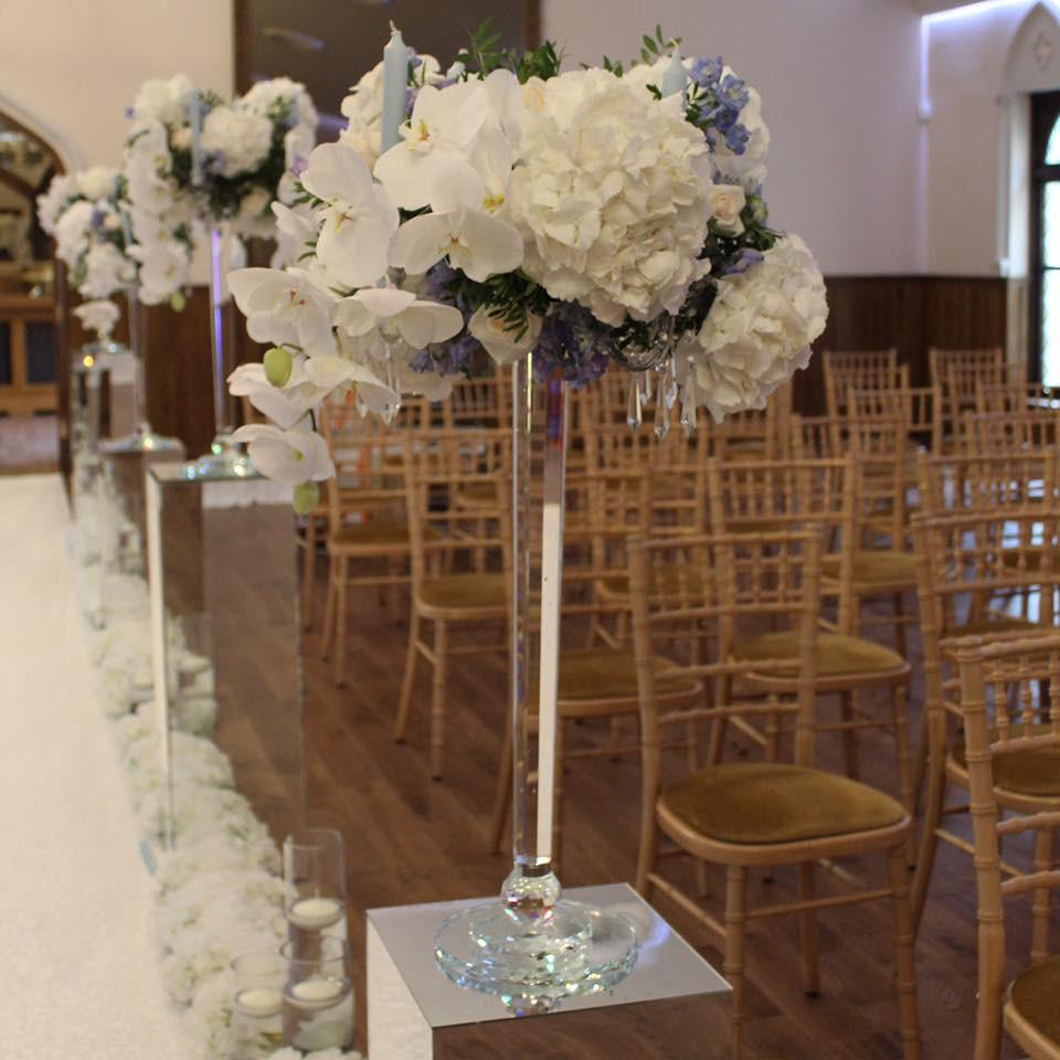 Floral Centrepieces, Crossbasket Castle, The Floral Design Boutique