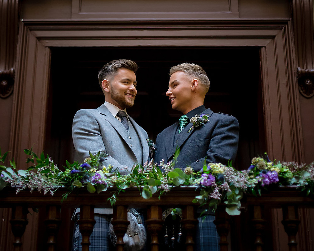 Same sex wedding, Wedding Florist Glasgow