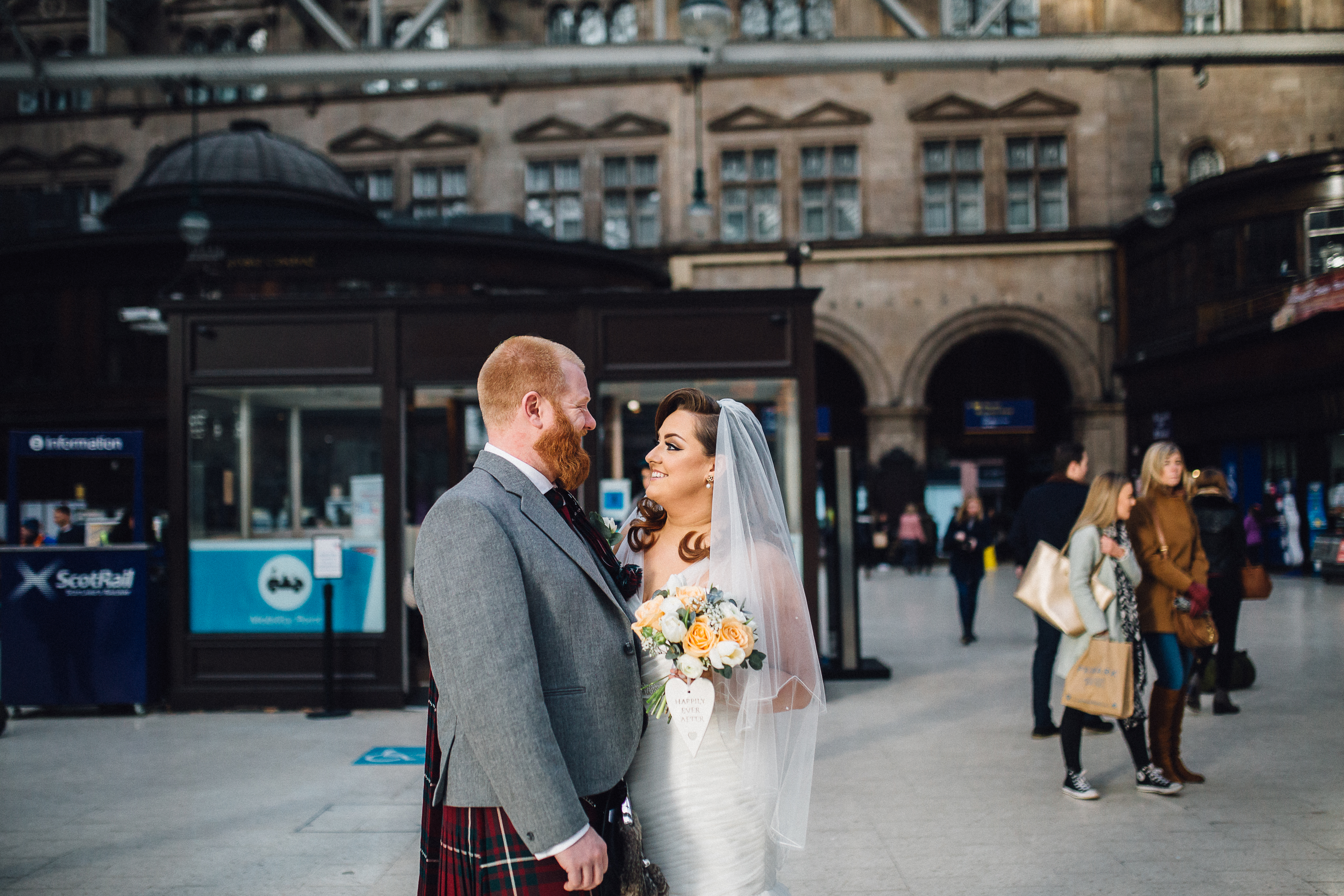 Wedding at Glasgow Central Station
