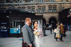 Wedding at Glasgow Central Station