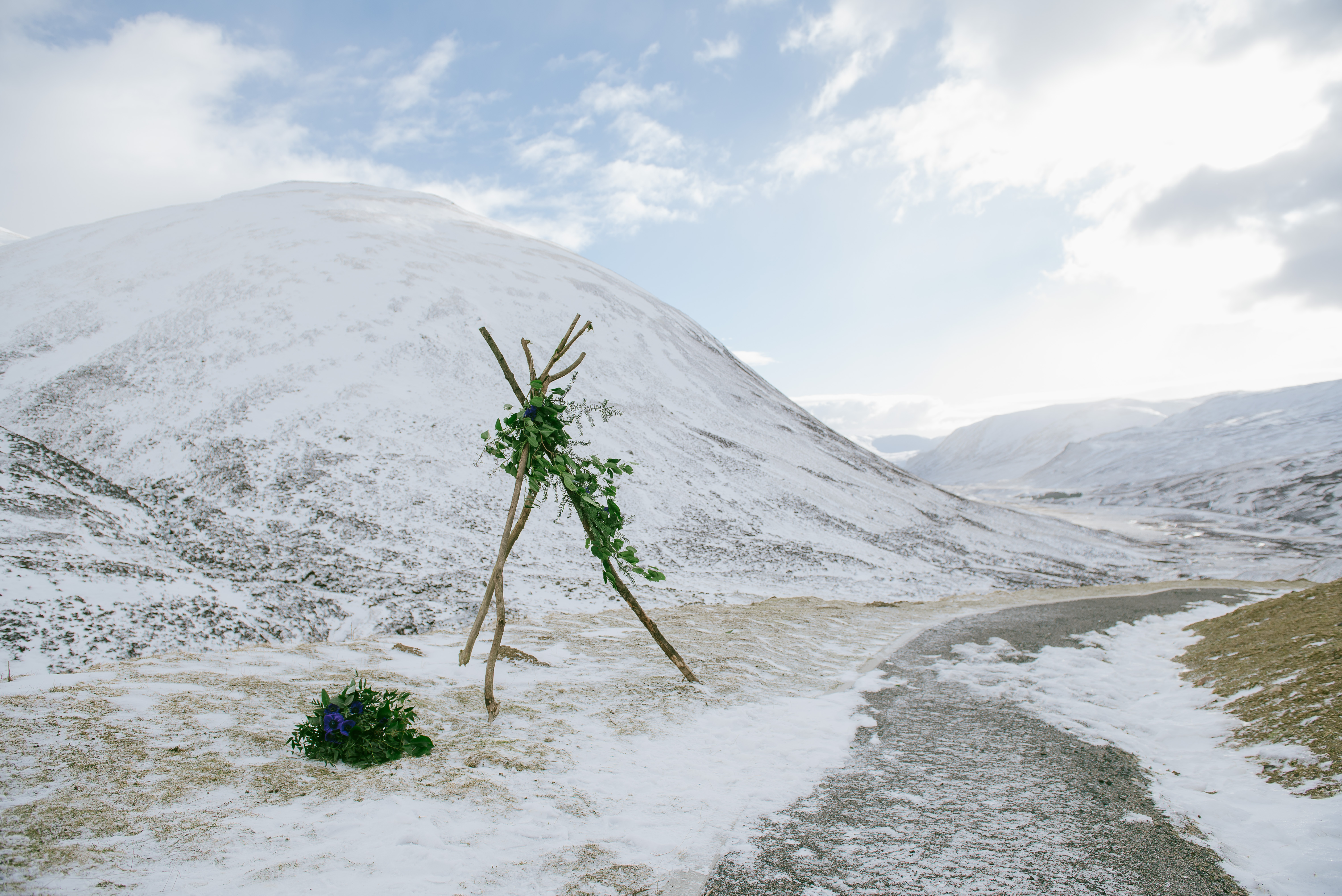Winter Wedding Glenshee Scotland