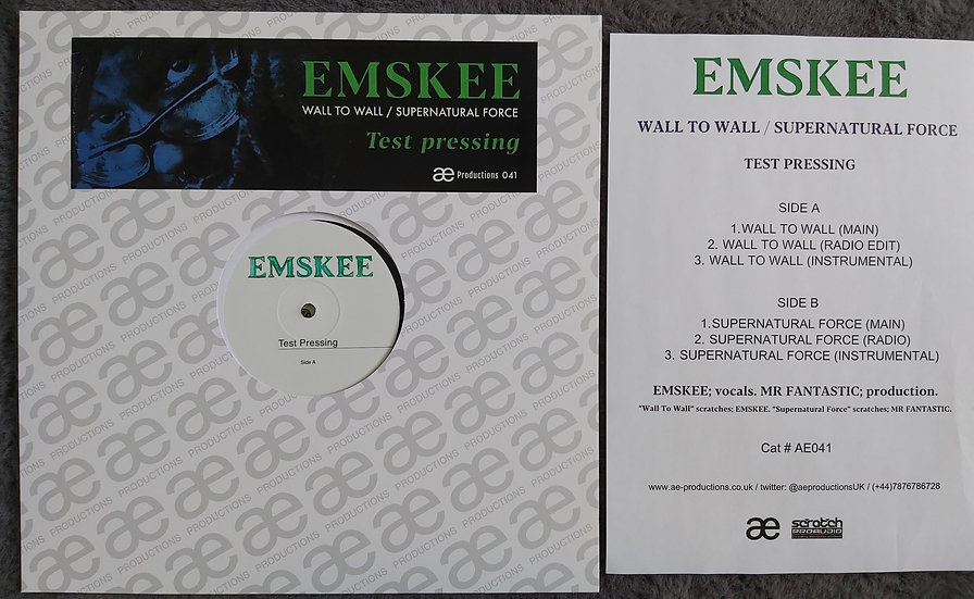 """EMSKEE - WALL TO WALL - TEST PRESSING 12"""""""