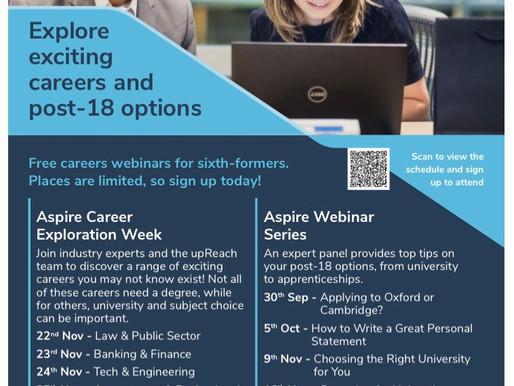 Aspire Webinar Series for Sixth Form