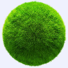 3D grass ball with texture - isolated over a white background.jpg