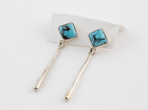 Authentic Navajo Turquoise Earnings